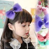 2015 Real Solid New Headwear South Korean Girls Head Flower Jewelry Stylish Headband Baby Big Bow Hair Bands free Shipping