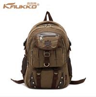 Brand designer canvas backpacks for men vintage Leather rucksack school student laptop backpack women travel hiking backpack