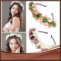 2pieces/lot Fashion Flower Tiara Wedding Headpiece Women Bridal Crown Headband Hair Bands Hair Accessories