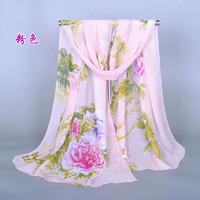 160*50cm New Arrival 2015 Spring  Autumn Vintage Chiffon Scarves  Women Casual Print Floral Bohemian Scarf Wrap Shawl Cape