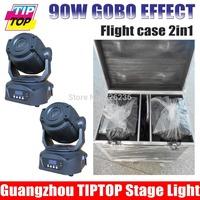 New Advanced 2Pcs/Lot 90W Led Moving Head Light Hi-quality TIP TOP  Led 90W Moving Head Gobo Light 160W Professional Stage Light