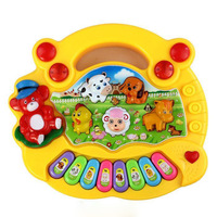 Cheap & New Arrival ! Yellow Color Useful Popular Baby Kid Animal Farm Piano Music Toy Developmental Free shipping & wholesale