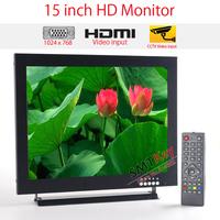 1024 x 768 resolution 15 inch IPS LCD monitor Industrial LCD Monitor support HDMI / VGA / BNC / AV video input cctv monitor