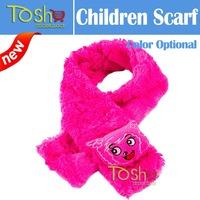 2014 New Retail Children Kids Muffler Baby Boy Girl Winter Wool Neck Warmer Scarf Boy Girl Coral Fleece Scarf Free Shipping