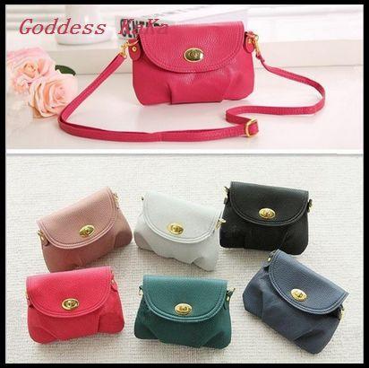 Dumplings Design PU leather Women Shoulder bag Messenger bag Handbag Cross body bag Small Coin purse Clutch 19 colors K002(China (Mainland))