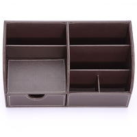 home desktop container boxes 5-slot Business Storage Box Organizer Holder for phone/remote control/makeup