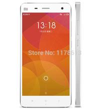 Original Xiaomi Mi4 Cell Phone 5.0″ IPS 1920*1080P Screen Snapdragan801 Quad Core 3GB RAM 13MP Camera Android 4.4 MIUI 6 GPS