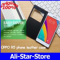 100%Original Smart Flip Windows Leather Cover for OPPO R5 4G 8core octa core smartphone 5.2inch 2gbram 32gbrom