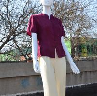 Chinese style collar retro mama silk silk blouse nation