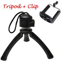 Portable Universal tripod and Phone Holder for iPhone 6 5S 4 Samsung HTC Mobile Phone Mini tripe para celuar CL-JJ01Clip