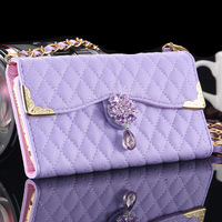 Wallet Flip Case for iphone 6 4.7 Women Luxury Sheep Lattice Bling Cover PU Leather Deluxe Diamond Purse Phone Bag