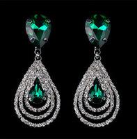 Fashion Party Jewelry New Elegant Rhinestone Teardrop Dangle Earrings Lovely Gift  BJE900113