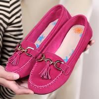 New 2015 Women Flats Shoes Genuine Cowhide Leather Bow Platform Slip Shose Maternity Sandal Sapatos Femininos Shoe Moccasins