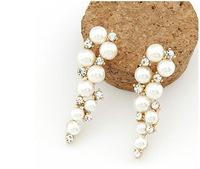 Elegant Faux Pearl Drop Earrings Rhinestone Earrings New Fashion Statement Earrings  BJE98046