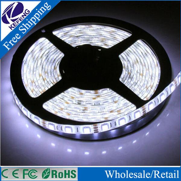 5M/Roll 3528 SMD Waterproof 60LEDs/M 300 LEDs 12V DC Warm White Cold White Blue RGB IP65 Flexible LED Strip Light High Quality(China (Mainland))