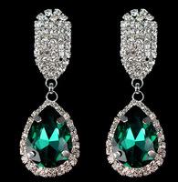 Sparkling Rhinestone Dangle Earrings Elegant Opulent Rhienstone Drop Earrings New Fashion Statement Jewelry Women BJE98638