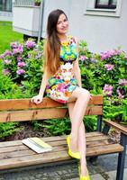 Free shipping 2015 Print Sexy Women Summer Dress Vestidos New Fashion Colorful O-Neck Slim Ladies Mini Casual Dresses