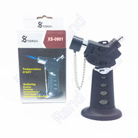 High quality XS-0901 Stainless Steel Windproof Gas Blue  Yellow Flame Jet 1300 C Butane Lighter Torch