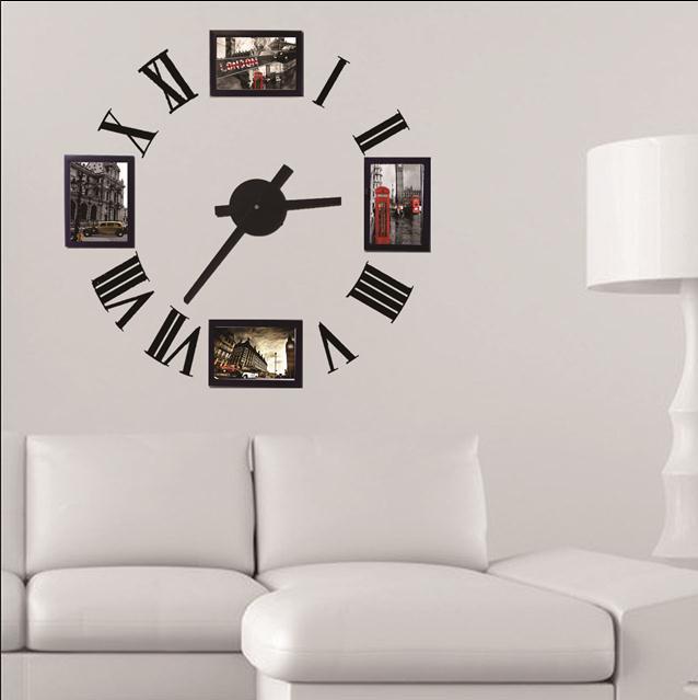 Achetez en Gros horloge murale cadre photo en Ligne à des