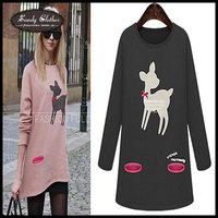 2014 Fashion Women Hoody Spring Autumn Sweatshirts And Pullovers Women Hoody Animal Print Hoodies Paris Casual Sport Suit Women