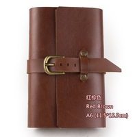 Genuine leather vintage fashion loose-leaf notepad cowhide diary stationery notebook handmade album