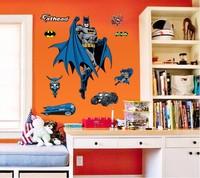 Batman Wall stickers Home Decor Decals Removable Adesivo De Parede Cartoon Sticker Kids Boys room Bedroom Parlor Home decoration