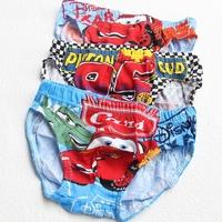 Child Boy Cartoon Briefs 3pcs conjunto cueca infantil menino Cars cotton Panties Red White Retail Packaging Underwear
