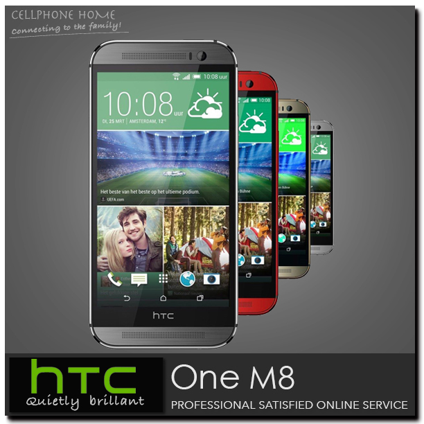 "One M8 Original HTC ONE m8 Unlocked Mobile phone 3G 4G Quad-Core 5.0""1920x1080 Dual 4MP Camera 16GB ROM WIFI Android Cell phones(China (Mainland))"