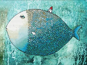 NEW 5D DIY Diamond Painting full square drill Home decoration Cross Stitch Mosaic Embroidery craft animal cartoon fish picture(China (Mainland))
