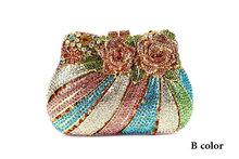 2015 New Evening Bags Fashion Designer Women Handbag Evening Bags High Quality Women Bag Floral shaped