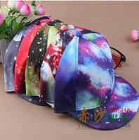 50pcs fedex New Fashion Galaxy Baseball Cap for men,Girls Space Pattern Printed Snapback Unisex Hip Hop Peak Cap Hats Women