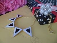 Europe and the United States jewelry fashion personality popular new triangular box oil dripping female Necklace