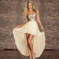vestidos de festa vestido longo Charming Boulevard Mermaid Strapless Sequined Chiffon  sexy party dress 2015 WFD037