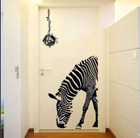 Fancy Creative Zebra Horse Wall Sticker Art Home Decoration Wallpaper Mural Door Stickers Decals