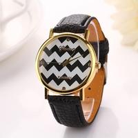 New Fashion Leather Strap Watch Geneva Watches Women Dress Watches Quartz Wristwatch geneva wrist watch for lady girl XR699