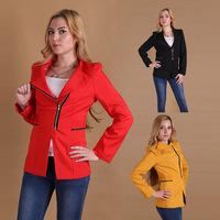 Hot Selling Fashion Slim Fit Non Iron Zipper Casual Suit Women Blazer Regular Coat Woman Jackets Large Size