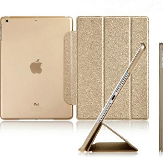 Luxury Stand Leather Case For ipad mini 1 / 2 Retina / 3 Silk Slim Clear Transparent Smart Back Cover for apple ipad Mini2 Mini3(China (Mainland))
