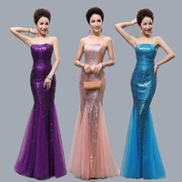 2015 Mermaid Evening Dresses Sweetheart Zipper Sequin Fishtail Formal Dress Long Gowns Mermaid Prom Dresses Cheap Royal Blue