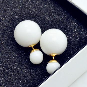 Новинка ювелирные изделия двойной сторона 16 мм жемчуг шпильки подарок для женщины девушка бесплатная доставка цвета смешивания E2505