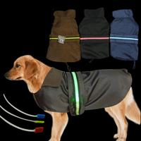Newest Pet Dog Clothes With LED Light All Season Large Dog Coat Waterproof Nylon Pet Jacket Dog Clothing Size M L XL XXL XXXL