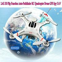 High quality ! 2.4G 3D Flip Function Auto-Pathfinder RC Quadcopter Drone Camera GPS Spy UAV control 500 M - Spy Aerial Vision