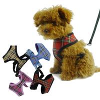 Hot Vest Dog Harness Classics Plaid Pet Supply Polyester Mesh Breathable Puppy Chest Straps Jogging 4 Colors 5 Size XS S M L XL