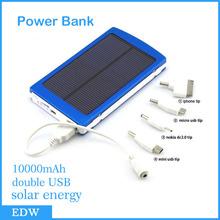 10000mAh USB 2 Панель солнечной телефон зарядное устройство Универсальный Power Bank Внешняя батарея для iPhone серии Nokia 6 / 6Plus Samsung