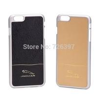 fashion design hang wear pattern dermis leather sheath case for apple pluswith jaguar logoAluminum+dermisBack Cover for  iphone6