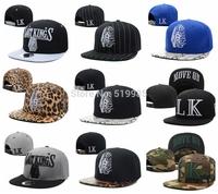 54 styles Last Kings LK Snapback hats leopard/snakeskin/camo men women hip hop sports letter gorras bones baseball caps