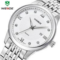 Hot fashion WEIDE brand watches women sport casual quartz full steel watches women calendar 30m water resistant wristwatch