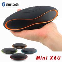 Mini X6U Wireless Bluetooth Speaker Support TF Card/ USB/ Aux/ FM Radio Built-in Mic Handsfree Portable Mp3 Subwoofer 2015 New