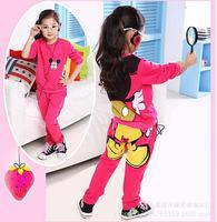 Kids/girls clothing sets children's suit shirt+pants 2pcs autumn models girls suit new sports package printing