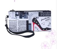 2014 New Desigual Famous Brand 3D Print River Women Wallet Zipper Long Brief Flower Print Women Purses Women Wallets Vintage