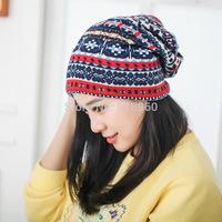 2015 new spring Autumn beanie Knitted hats for women,retro velvet Soft Warm touca beanie women cap,china style gorros carhart